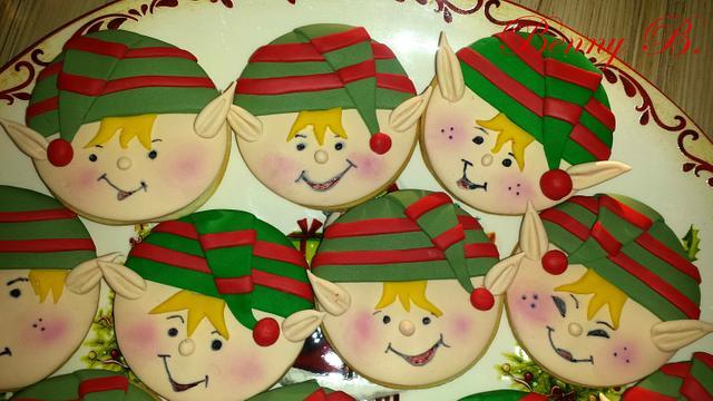 Christmas elves cookies