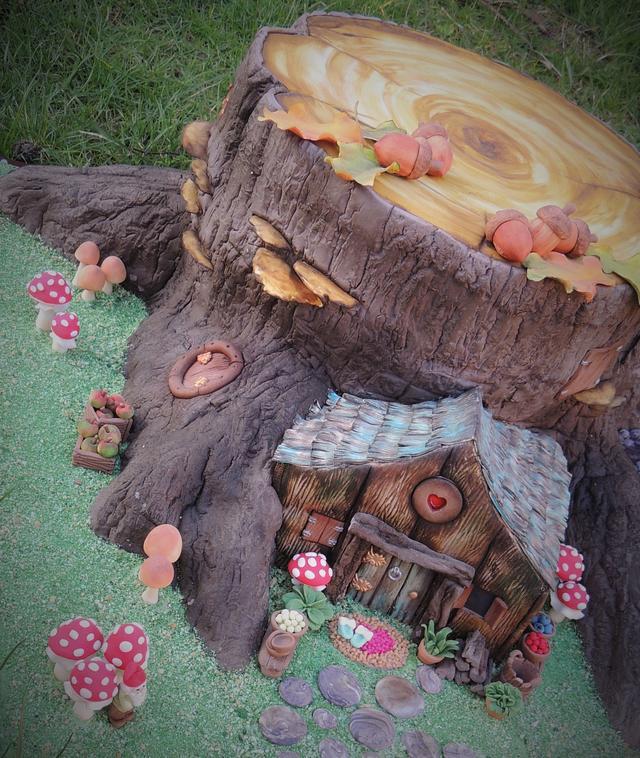 Fairy House Tree Stump