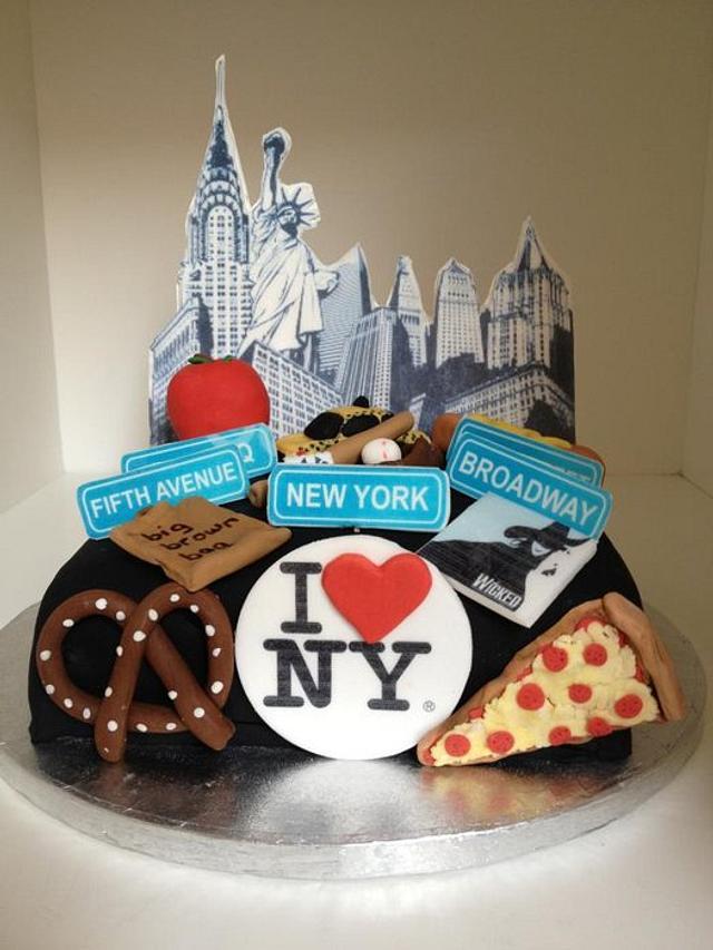 NY Themed Birthday Cake