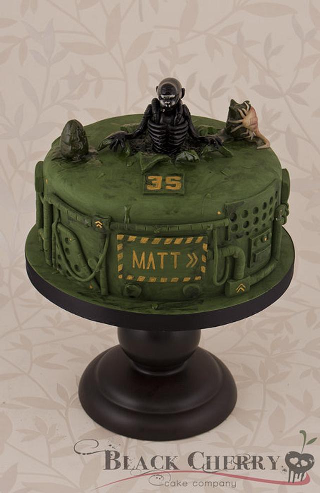 Brilliant Alien Cake Cake By Little Cherry Cakesdecor Funny Birthday Cards Online Elaedamsfinfo
