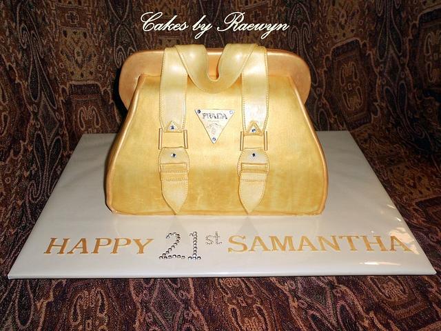 Gold Prada Bag