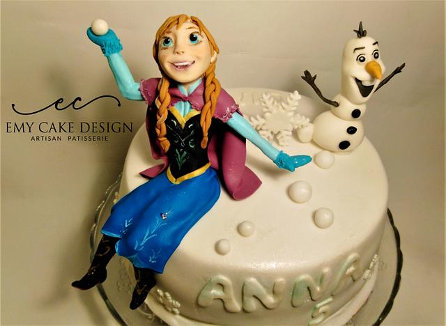 Frozen Cake - Anna and Olaf