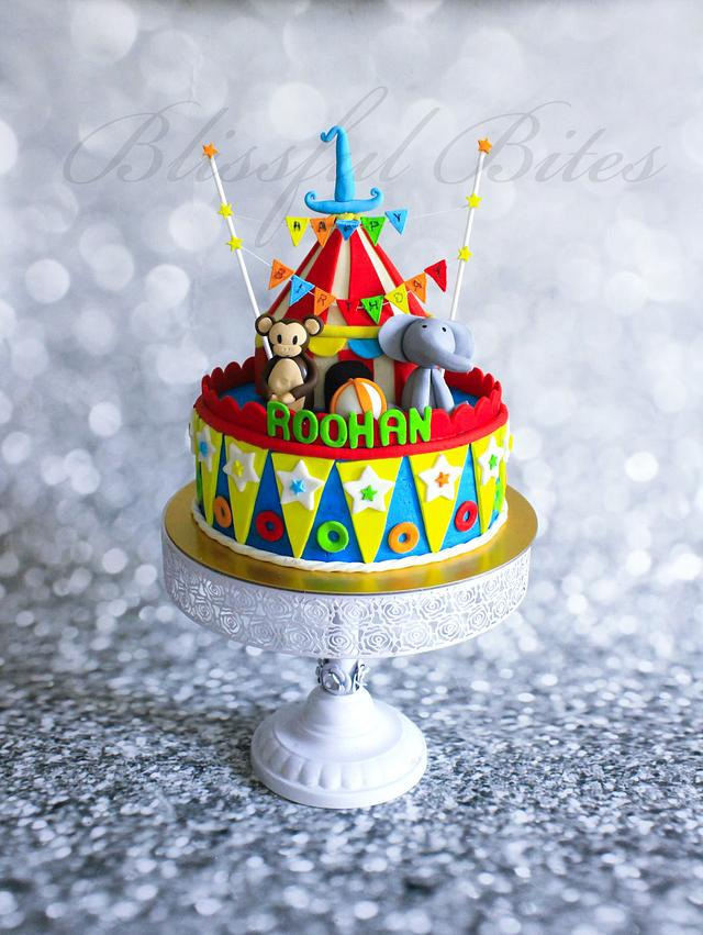 Admirable Carnival Theme Cake Cake By Silviya Cakesdecor Personalised Birthday Cards Bromeletsinfo