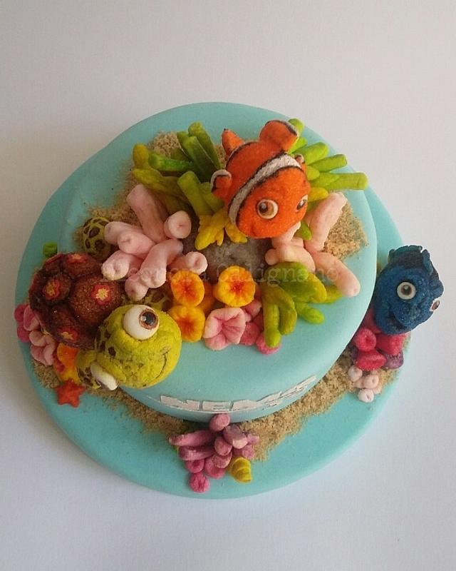 Marshmallow Cake - Nemo