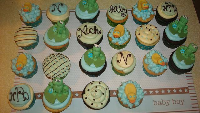 Baby Shower Boy cupcakes