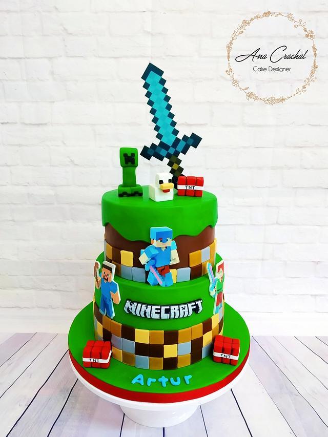 Minecraft Cake Cake By Ana Crachat Cake Designer Cakesdecor