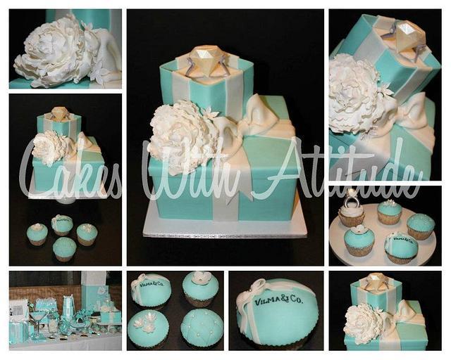 Breakfast at Tiffany's Themed Cake