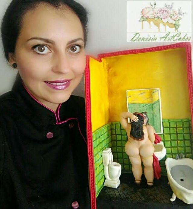Mujer en Baño Botero Challenge