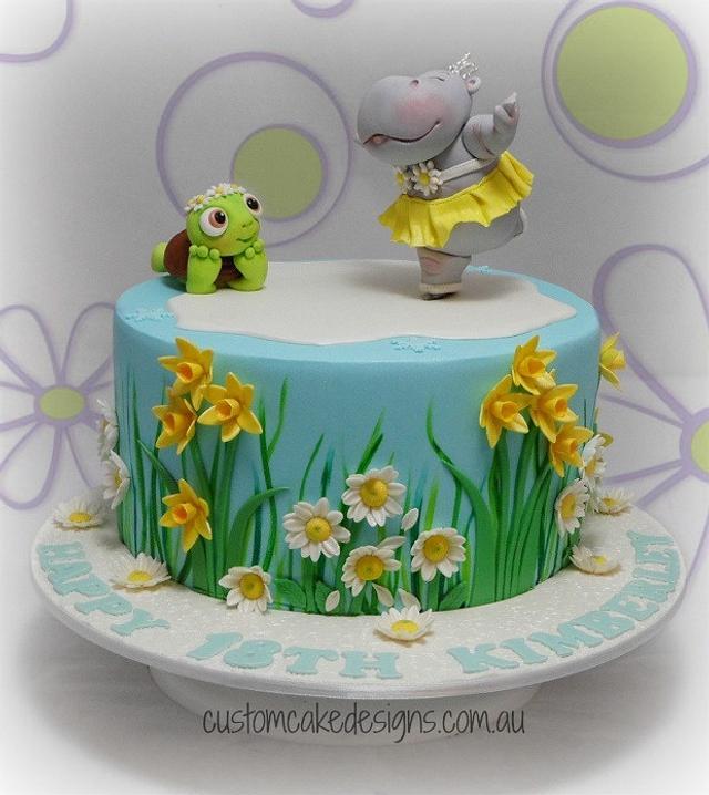 Pleasant Ice Skating Hippo Birthday Cake Cake By Custom Cake Cakesdecor Personalised Birthday Cards Akebfashionlily Jamesorg