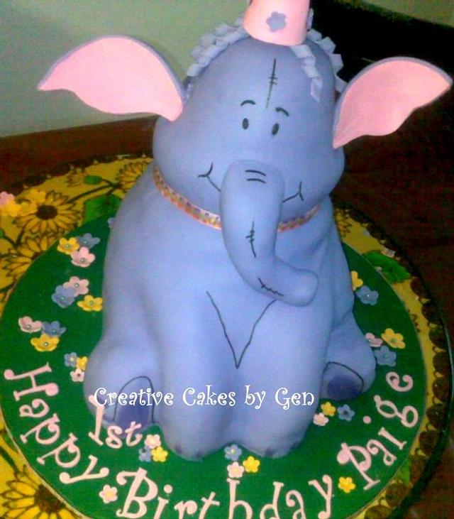First Attempt Heffalump Cake