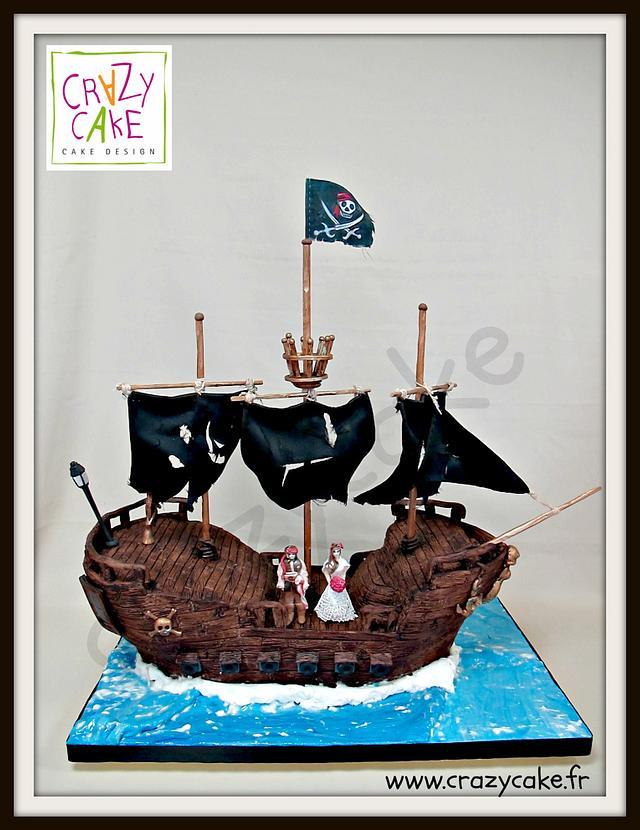 Black Pearl 3D wedding cake