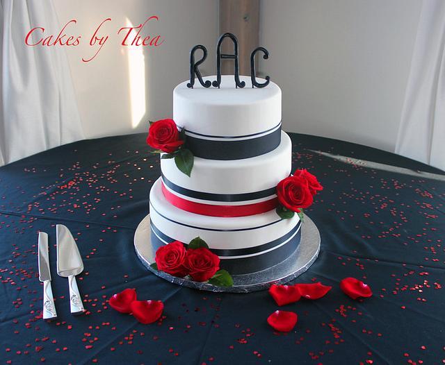 Black & red wedding