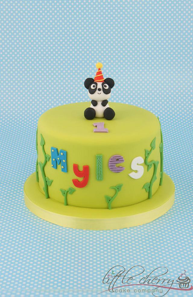 Baby Panda Birthday Cake