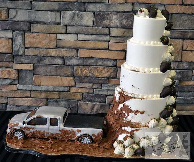 5 Tier Buttercream Iced Wedding Cake