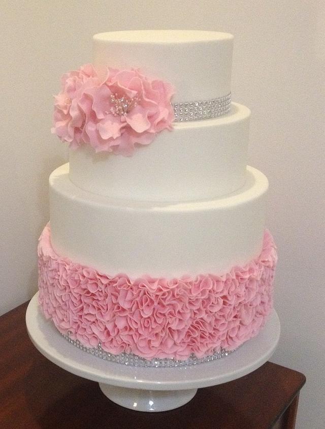 Rose Ruffle cake by The Honeybee Cakery