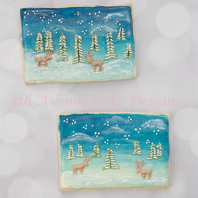 Christmas Scenery Cookies