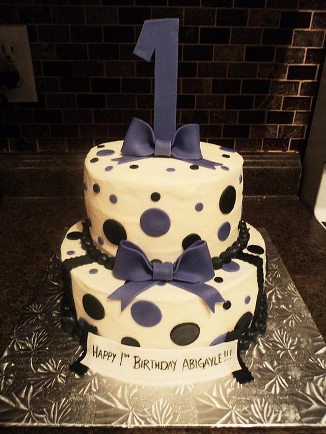 1st Birthday Polka Dots