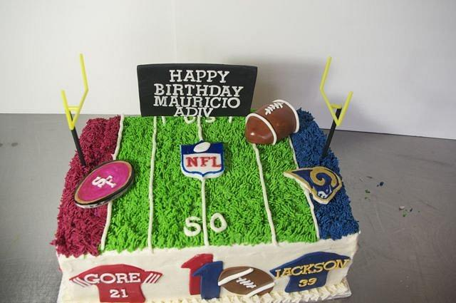 Football Birthday Cake By RooneyGirl BakeShop