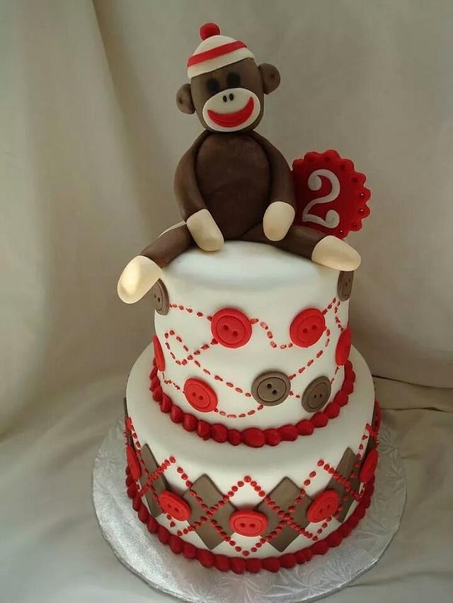 Outstanding Sock Monkey Birthday Cake Cake By Bubbycakes Cakesdecor Funny Birthday Cards Online Barepcheapnameinfo