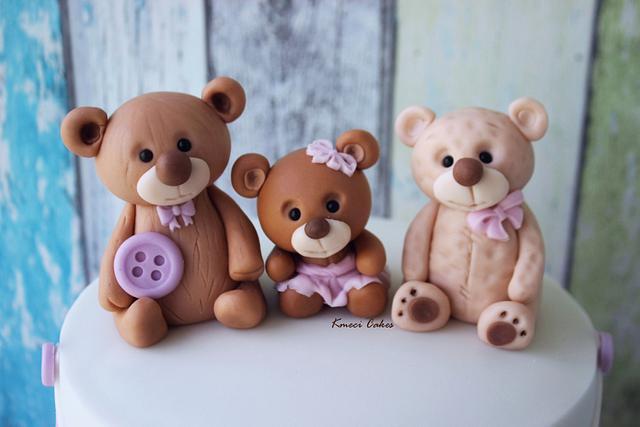 Christening cake -  Bears