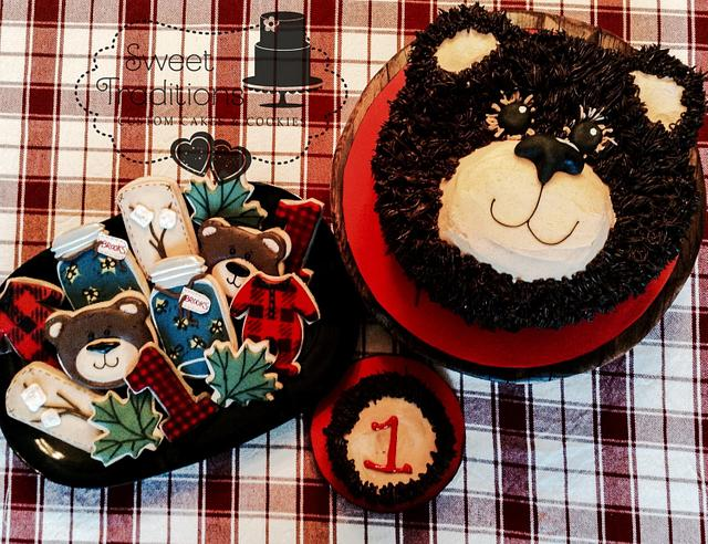 Lumberjack/camping first birthday