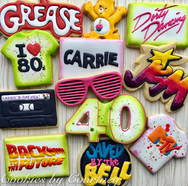 Eighties Birthday Cookies