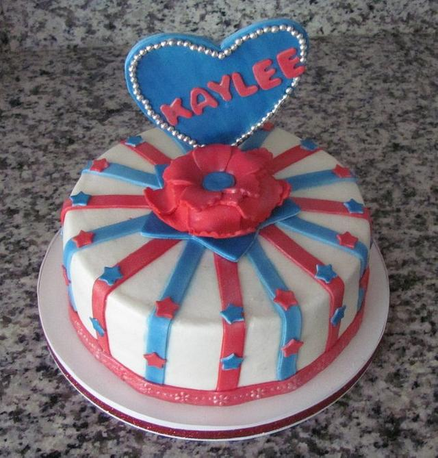 All American Girl Birthday Cake