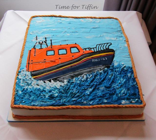 RNLI lifeboat cake