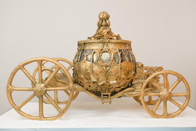 Disney Cinderella Golden Carriage Sculpted Cake