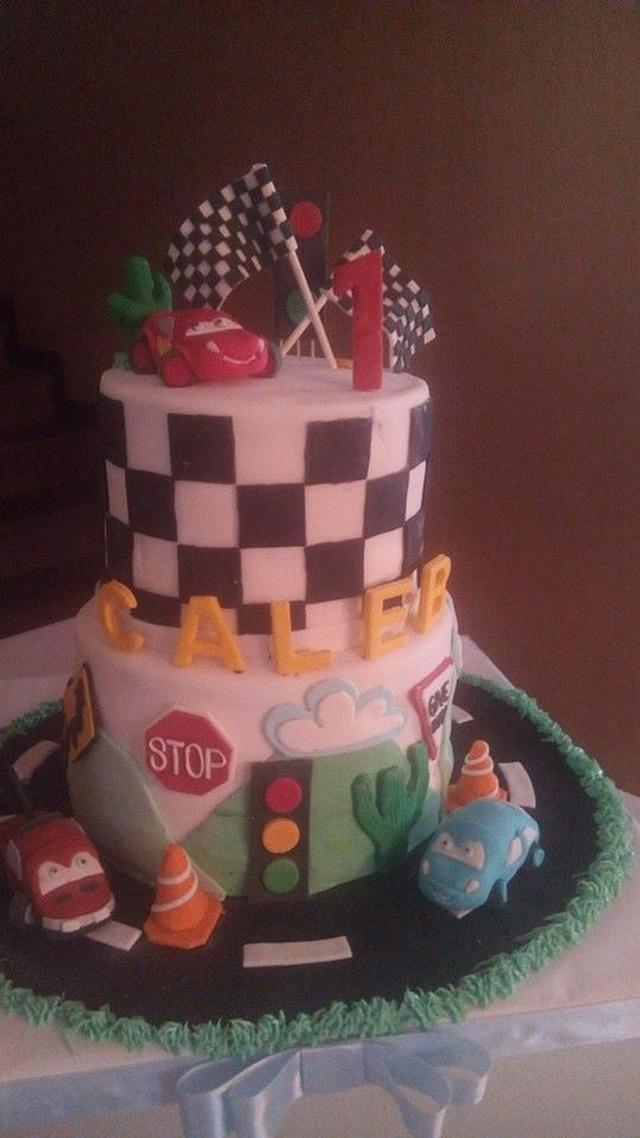 Astounding Disney Cars Birthday Cake Cake By Lil Cakes And More Cakesdecor Funny Birthday Cards Online Alyptdamsfinfo