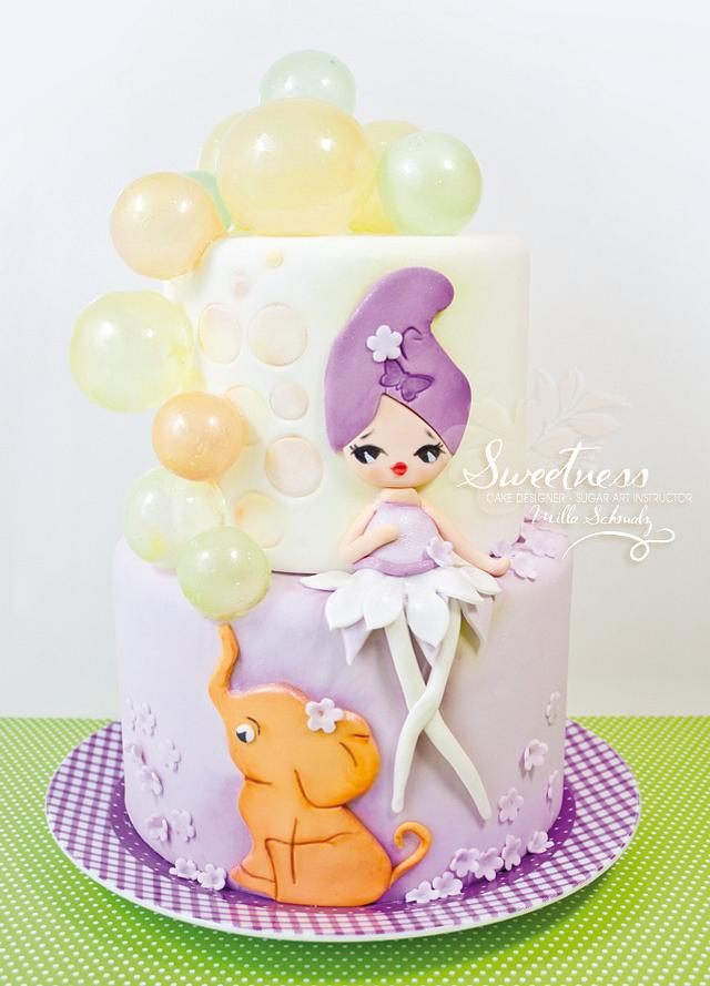 Funny edible Soap Bubbles Cake