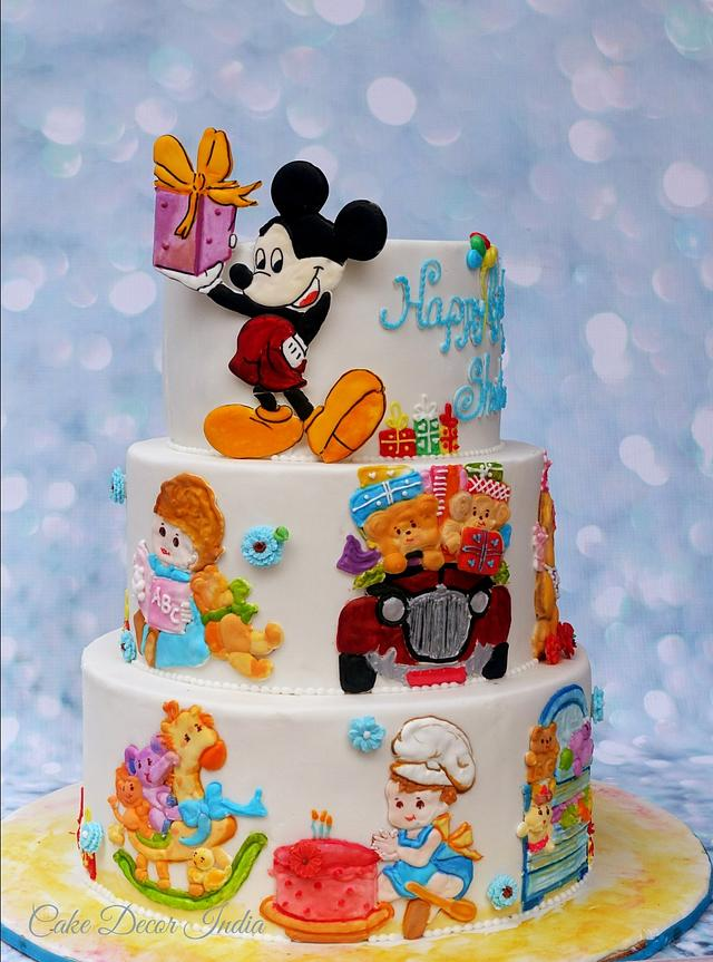 Groovy Ri Characters For My Sons 3Rd Birthday Cake By Prachi Cakesdecor Personalised Birthday Cards Veneteletsinfo