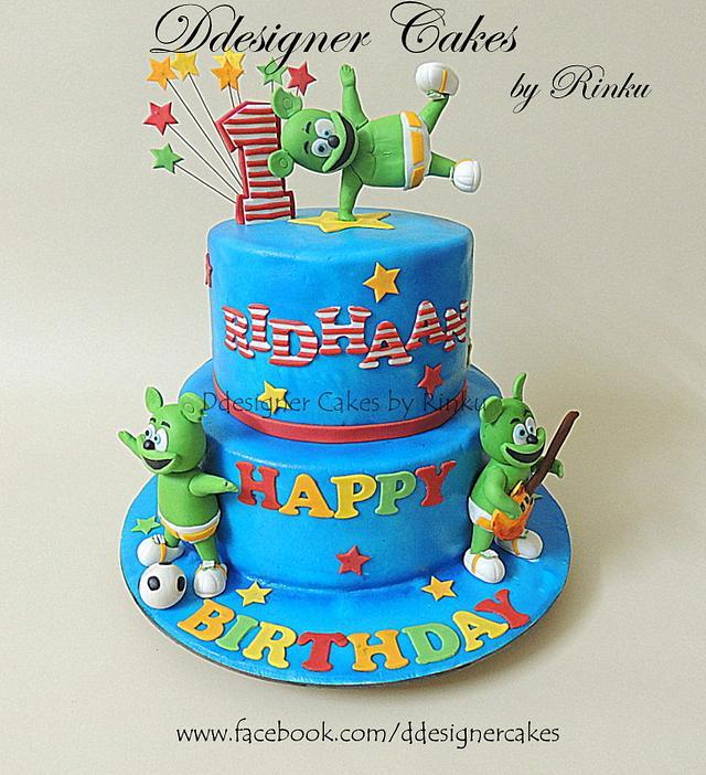 Fabulous Gummy Bear Song 1St Bday Cake Cake By D Cake Cakesdecor Funny Birthday Cards Online Benoljebrpdamsfinfo