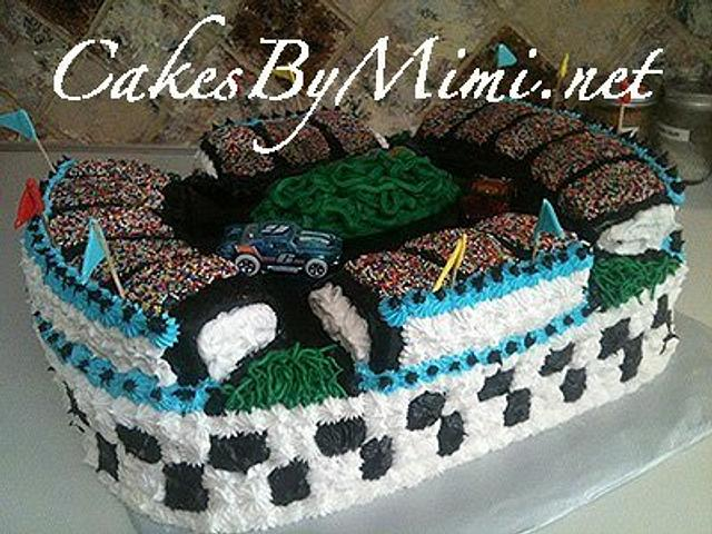 Fine Racetrack Cake Cake By Emily Herrington Cakesdecor Funny Birthday Cards Online Aboleapandamsfinfo