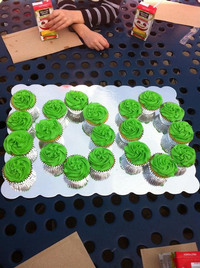 100 days of school cupcakes