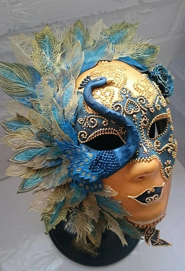 Peacock Pastillage Mask - Salon Culinaire Best in Class