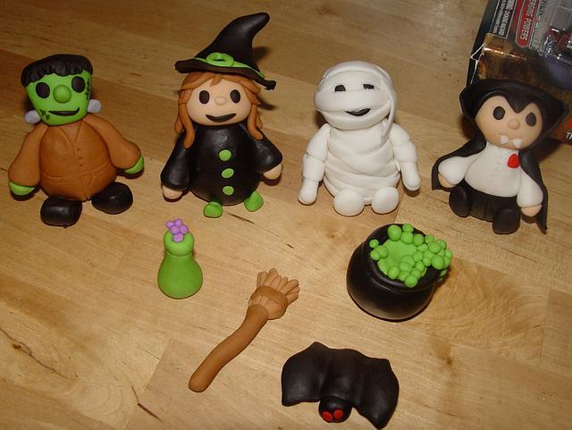 Fondant Monster themed Cake Toppers