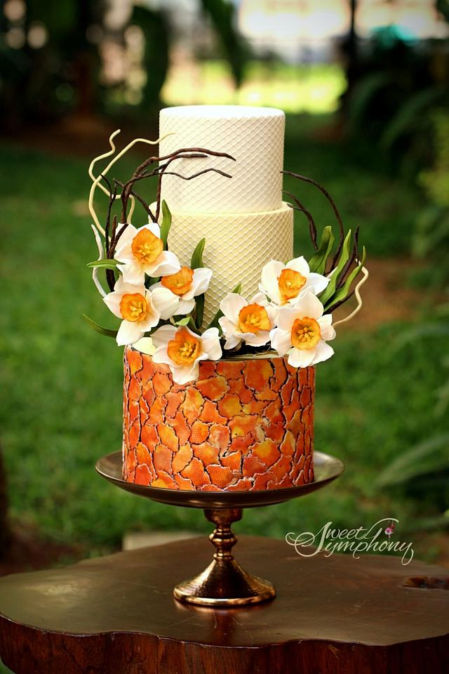 Daffodils Spring themed cake