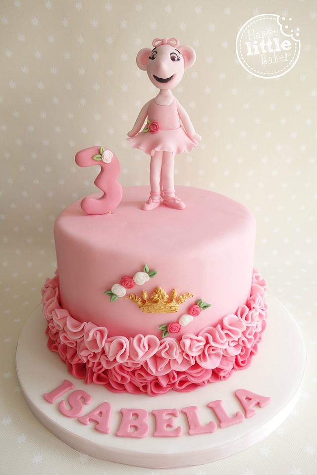 Amazing Angelina Ballerina Birthday Cake Cake By Happy Little Cakesdecor Personalised Birthday Cards Paralily Jamesorg