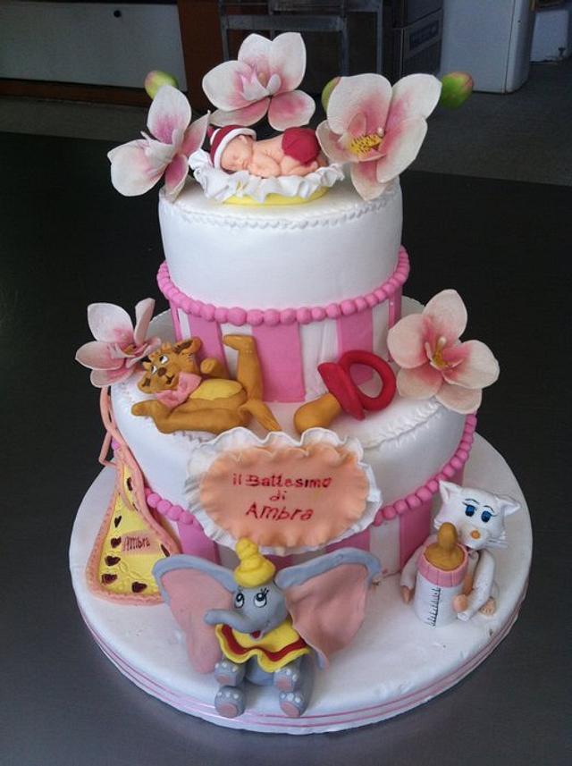 torta per il battesimo di AMBRA