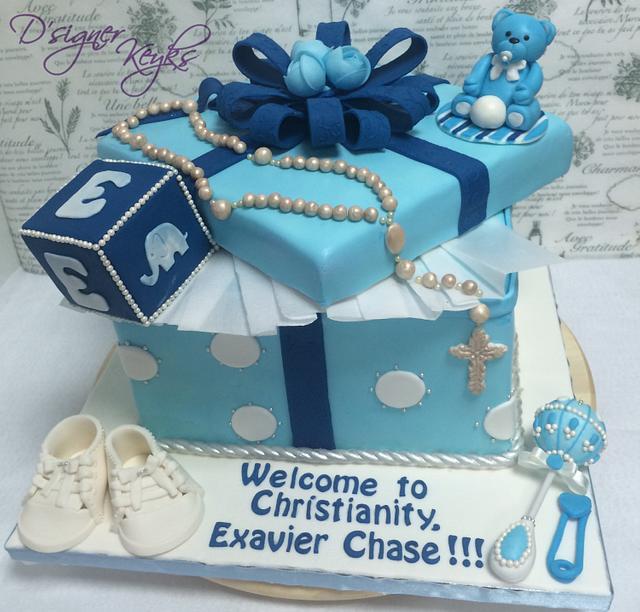 A christening cake..