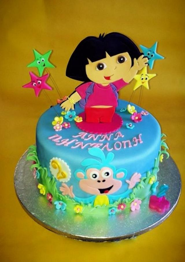 Fantastic Dora Birthday Cake Cake By Lenkasweetdreams Cakesdecor Funny Birthday Cards Online Alyptdamsfinfo