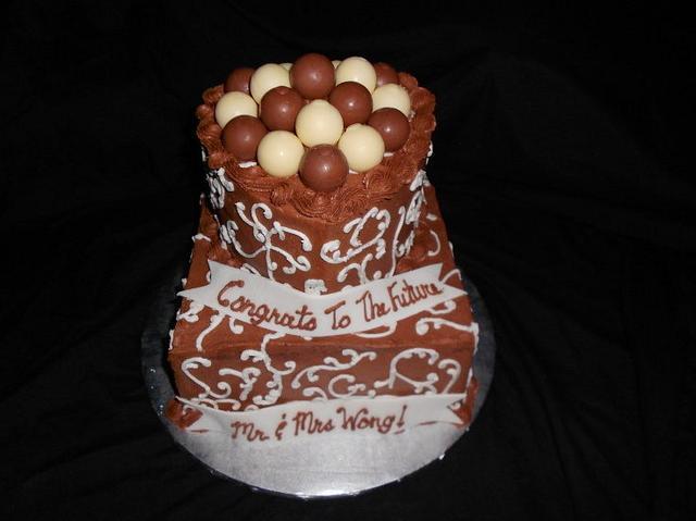 Chocolate Lovers Engagement Cake