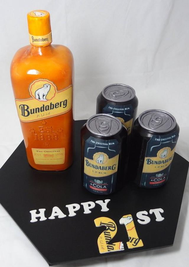 Rum 21st (Bottle cake and notes)