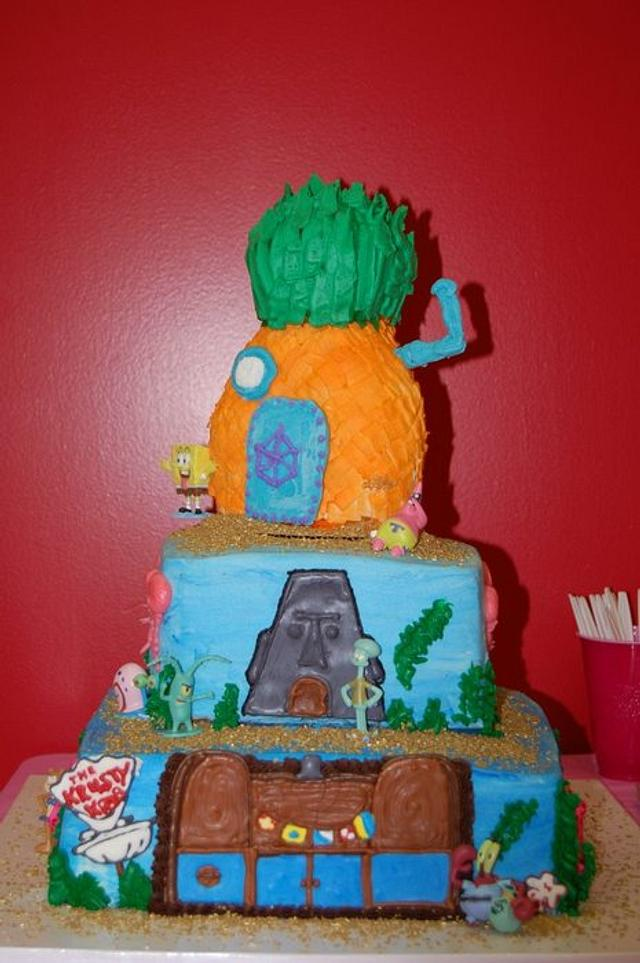 Admirable Spongebob Birthday Cake Cake By Angiew Cakesdecor Funny Birthday Cards Online Alyptdamsfinfo