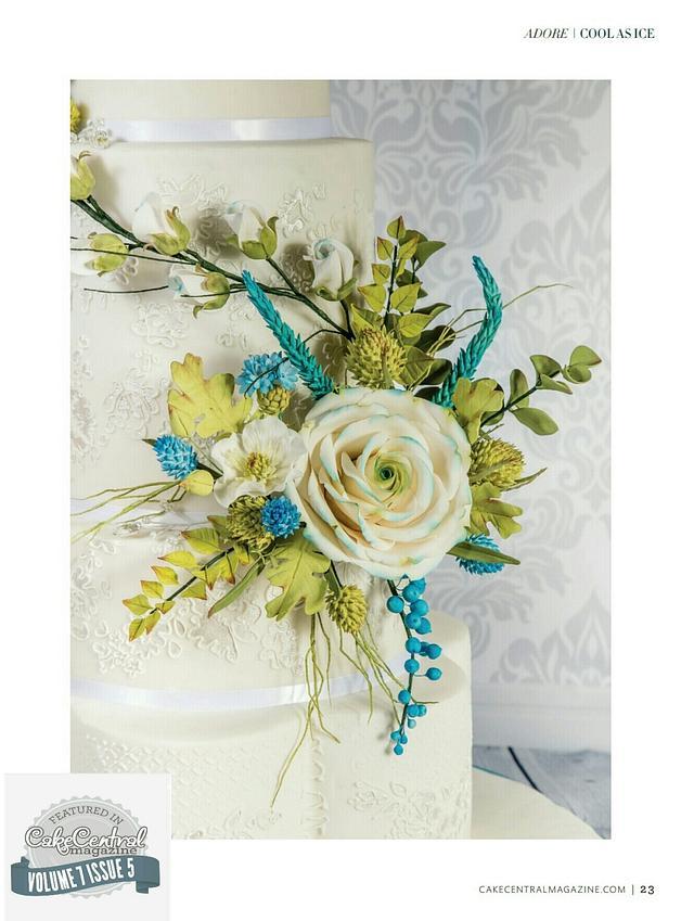 Cool As Ice  White Christmas  Wedding  cake