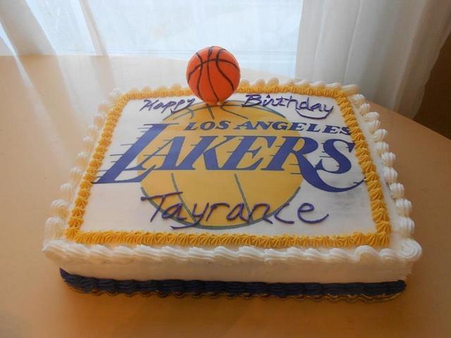 Lakers Fan Cake