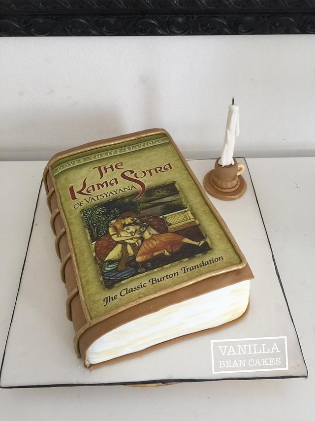 Kama sutra  vintage book cake