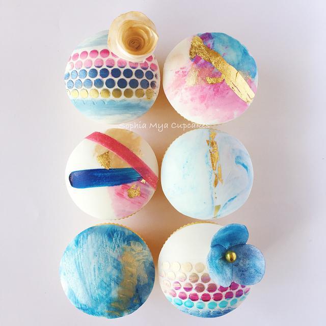 Abstract Art Cupcakes