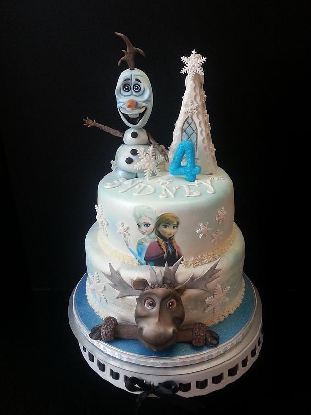 Awe Inspiring Syd Frozen Birthday Cake Cake By Tara Cakesdecor Birthday Cards Printable Benkemecafe Filternl
